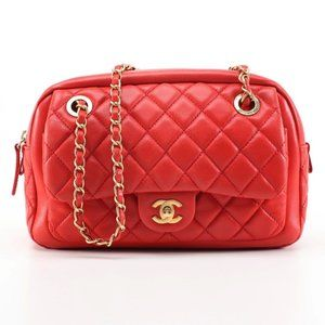 CHANEL Front Pocket Camera Bag in Quilted Lambskin